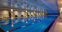 The 50 meters indoor swimming pool at the Radisson Royal ...