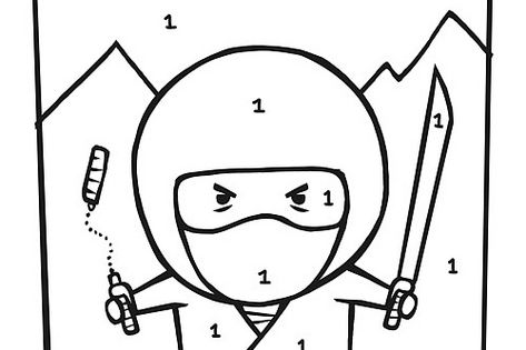Nighttime Ninja Coloring Page, #Japanese culture for #kids