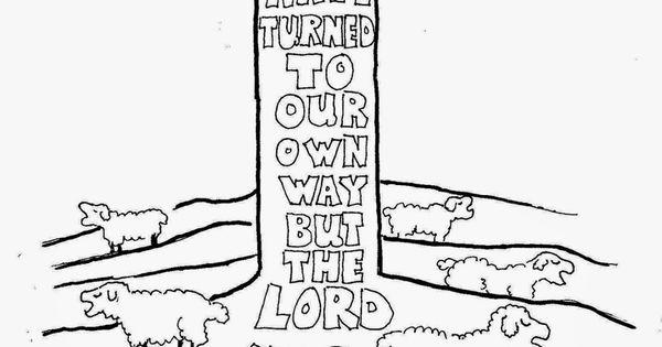 Bible verse coloring page. Isaiah 53:6. See more at my