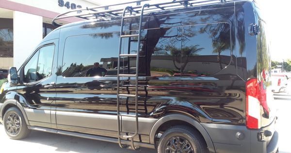 Aluminess Roof Rack And Side Ladder For The Ford Transit