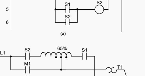 hardwired relay circuit and b wiring diagram of a reduced