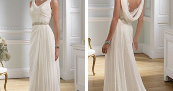 Ancient Greek Style Wedding Dress, Love The Draping At The
