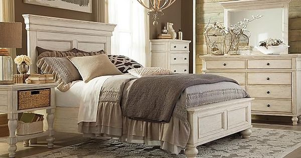 White Marsilona Queen Panel Bed View 4  Bedroom and dining room colors  Pinterest  Vintage