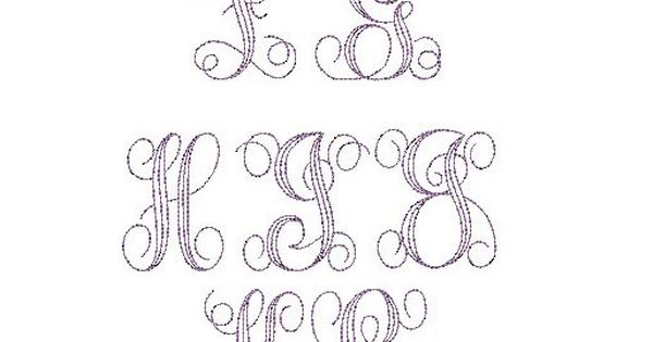 Embroidery Bean Stitch Interlaced Monogram is available