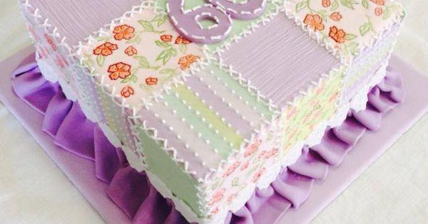 60th Birthday Patchwork Cake Sheet Cake Ideas