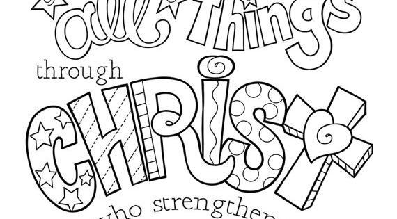 I Can Do All Things Through Christ coloring page / Two