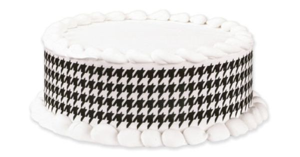 Houndstooth Black Decorators Choice Edible Designs, 2