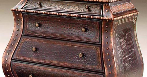 THE FURNITURE Small Medieval Bombe Chest In Antique