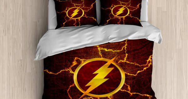The Flash Bedding  Superhero Duvet Cover The Flash Duvet