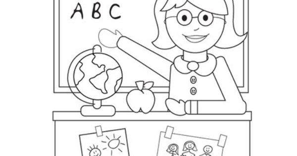 Welcome to School Coloring Page from TwistyNoodle.com