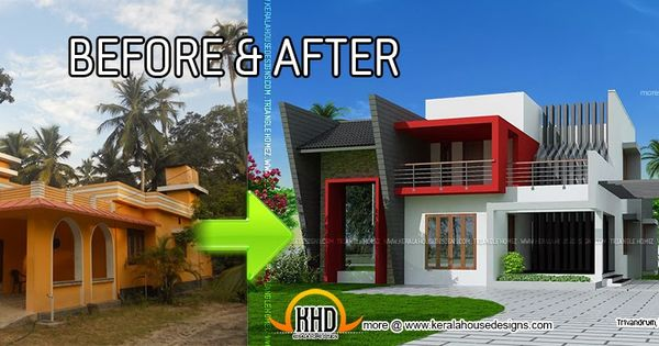 House Before And After Pictures Kerala House Renovation Before And After Indian House