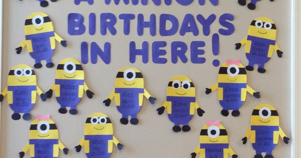 Minion Birthday Wall Minions Birthday Classroom