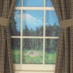 Kitchen Window Treatments Ideas Mobile Trailers Primitive Curtains On Clearance | Country Drapes And Panel ...