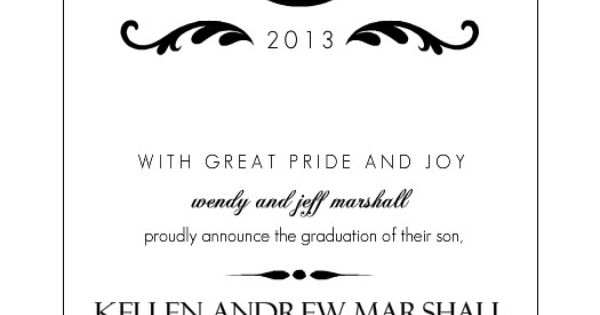 Elegant Black Monogram Nursing Graduation Announcement by