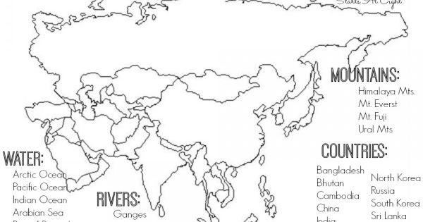 World Geography Scavenger Hunt: Asia ~ FREE Printable