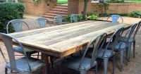 Outdoor, patio rustic farm tables--we'll make you one ...