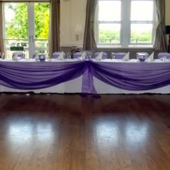 Wedding Chair Covers Yeovil Dining Room Christmas Purple Table Swag And Sashes At The Cleve In Wellington | Decor By Elegant Touch ...