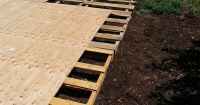Creating a Dance Floor from Recycled Pallets | Sticky tile ...
