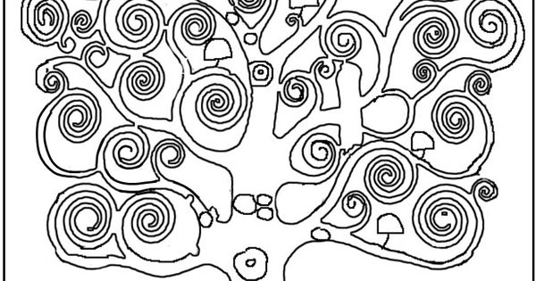 Print coloring page and book, Austria Klimt Tree_of_life