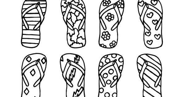 Print and Color Flip Flop Memory Game : Printables for