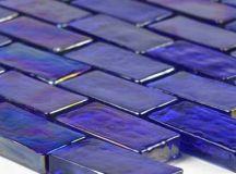 Cobalt Brick Glass Tile from GlassTileWarehouse for ...