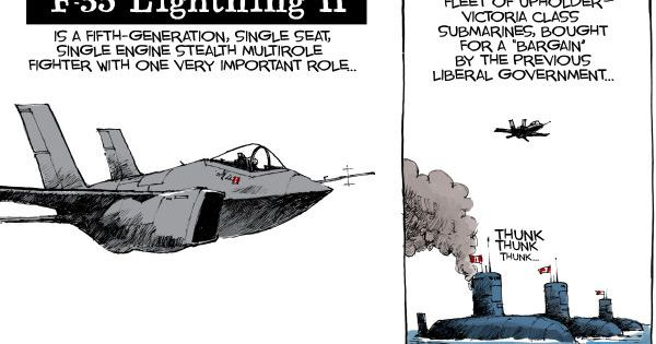 Canadian cartoon: The F35 is a pointless waste of $24
