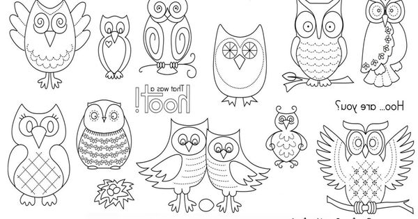 Our Favorite. Hoot Owls! Print, Transfer and Sew! Its that