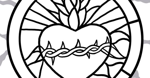Sacred heart Traceable !!! For the easy no draw painting