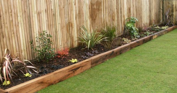 Wooden Sleepers Garden Edging Google Search Fun