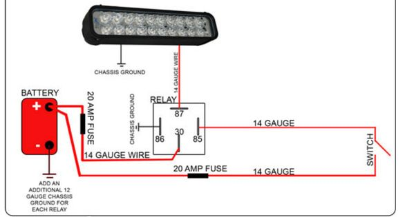 Led Light Bar To High Beam Wiring Light Bar To High Beam Switch