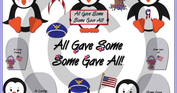 Memorial Day Penguins Clip Art Collectons My Crazy Funny