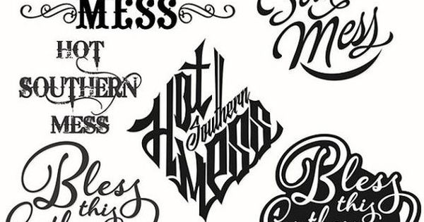 Hot Southern Mess Cuttable Svg Designs por CuttableSVG en