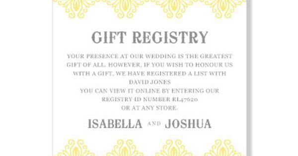 Wording For Baby Gift Registry