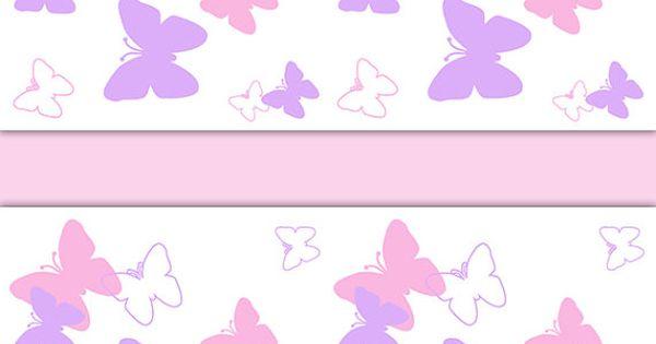 Baby Girl Nursery Pink Wallpaper Butterfly Nursery Decor Wallpaper Border Pink Purple Wall