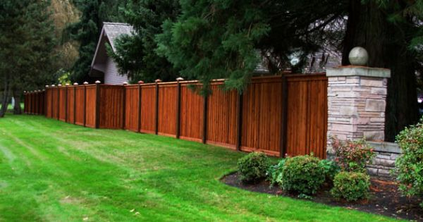 Privacy Fence Idea Love The Idea Of Two Tone Exterior