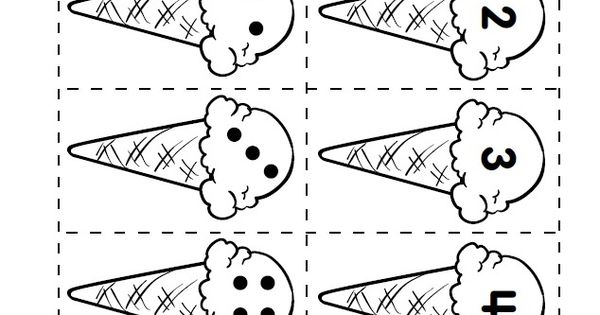 Ice Cream Match-Up Printable from Lakeshore Learning