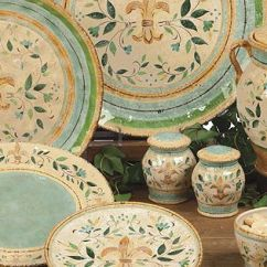 5 Piece Kitchen Table Sets Reclaimed Wood Tables Tuscan Dinnerware   Tuscan, Provence & Floral ...