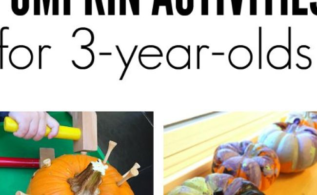 Pumpkin Crafts And Activities For 3 Year Olds Fall