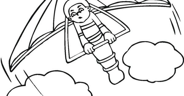 Glider Coloring Sheet Coloring Pages