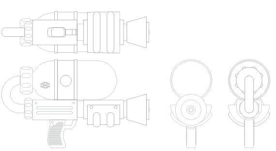 Splatoon Splattershot Blueprints by RudisillDesign on Etsy
