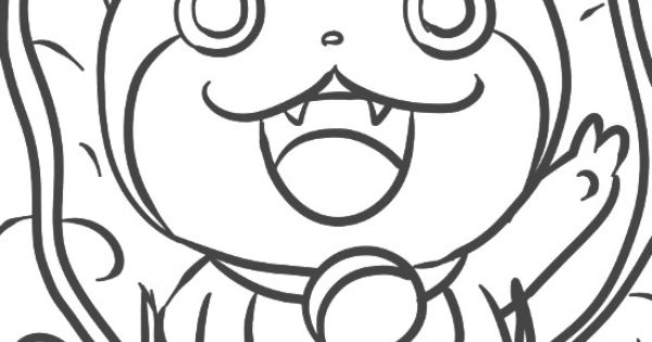 Jibanyan Coloring Pages Sketch Coloring Page