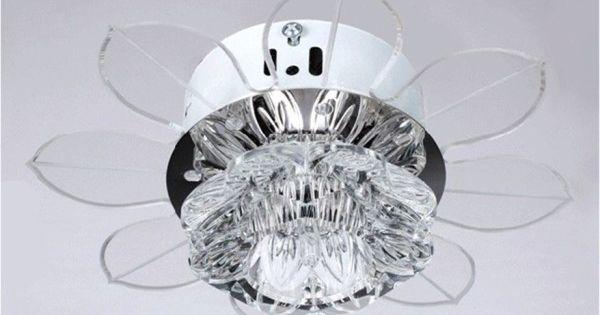 glass chandelier ceiling fan
