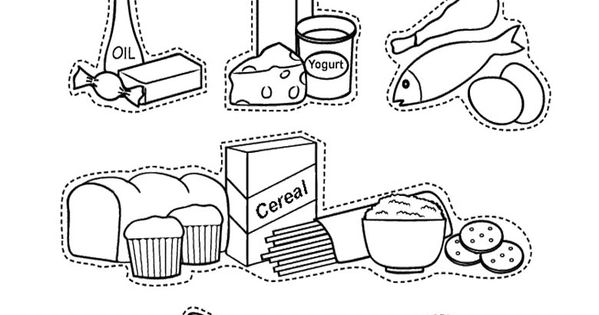Food Pyramid Coloring Pages : Food Pyramid With Fruit And