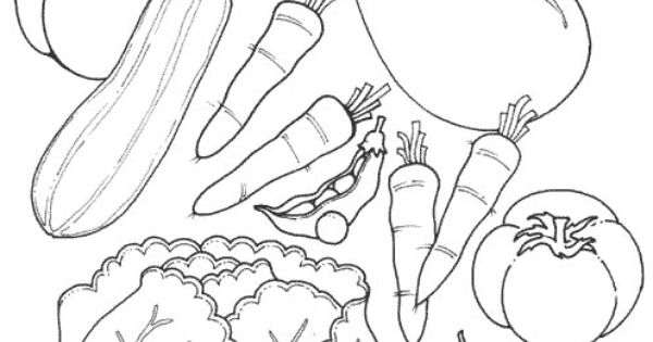 Free Fruits and Vegetables Coloring Pages for kids