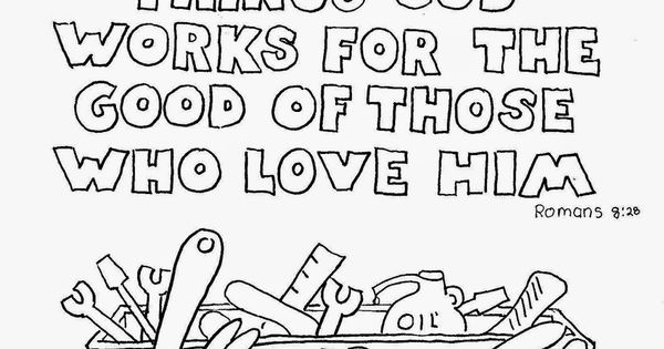 God works all things for good. Free coloring page. See