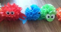 My sister and I made under the sea animals tissue paper ...