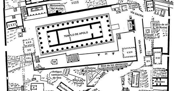 Site plan of the Sanctuary of Apollo, Delphi. Thumbnail