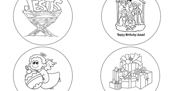 Messy Church Christmas badge templates (for 57mm button