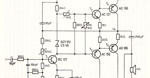 10 W Audio Amplifier with Germanium Transistors