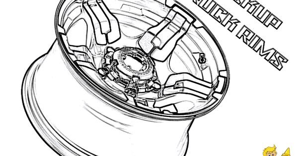 Ford Truck Rim Coloring Page to Print Out. You Can Print